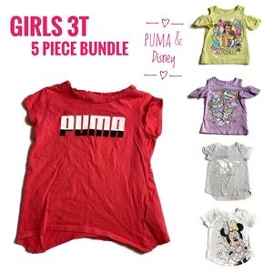 Girls 3T EUC 5 Piece Puma & Disney Brand Tops Lot